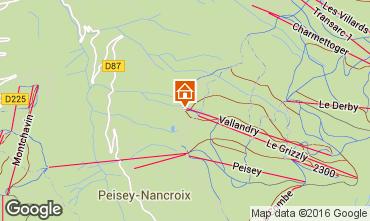 Map Peisey-Vallandry Studio apartment 4747