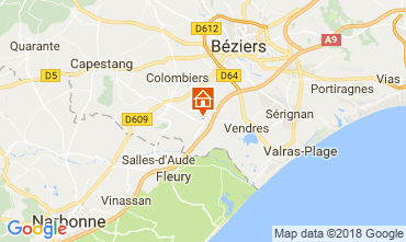 Map Cap d'Agde Villa 114551