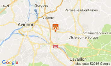 Map Châteauneuf-de-Gadagne Self-catering property 106635