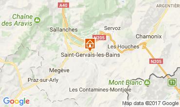 Map Saint Gervais Mont-Blanc Apartment 111843
