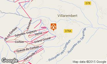Map Le Corbier Apartment 999