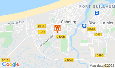 Map Cabourg Apartment 113080