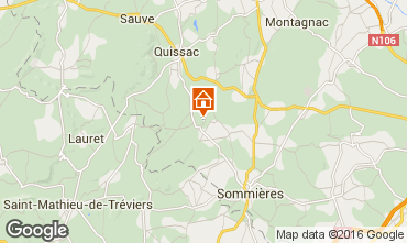 Map Sommières Self-catering property 12181