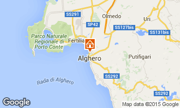 Map Alghero Apartment 84156