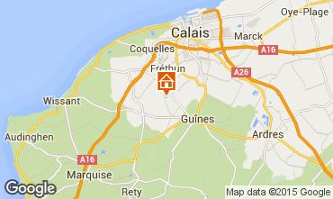 Map Sangatte/Blériot-Plage Self-catering property 102225