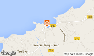 Map Perros-Guirec Self-catering property 83929
