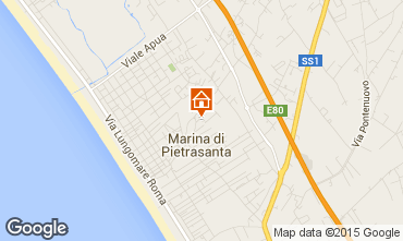 Map Marina di Pietrasanta Apartment 93680