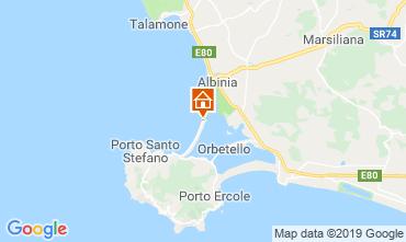 Map Monte Argentario Apartment 109925