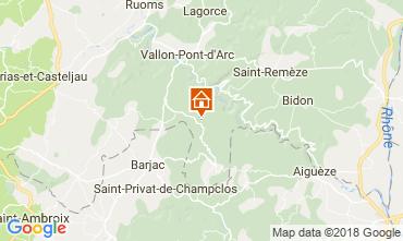 Map Labastide de Virac Villa 116056