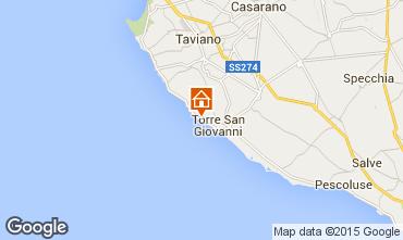 Map Ugento - Torre San Giovanni Villa 97462