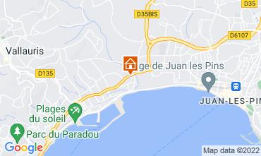 Map Juan les Pins Studio apartment 47153
