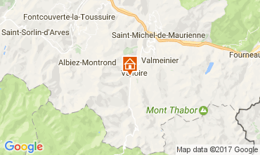 Map Valloire Self-catering property 108351