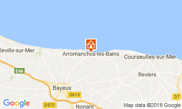 Map Arromanches Self-catering property 113148