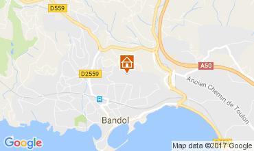Map Bandol Apartment 108625