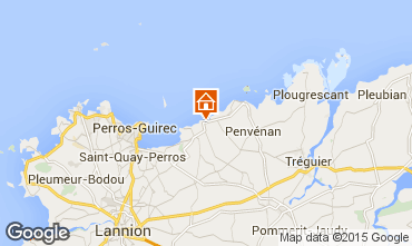 Map Perros-Guirec Apartment 77591