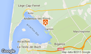 Map Andernos les Bains Self-catering property 80951