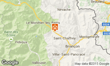 Map Serre Chevalier Chalet 15369