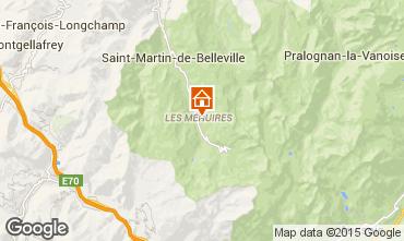 Map Les Menuires Studio apartment 1759