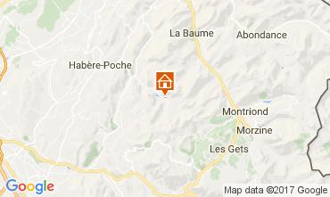 Map Bellevaux Hirmentaz La Chèvrerie Apartment 102046