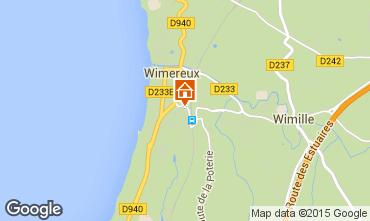 Map Wimereux Apartment 80407