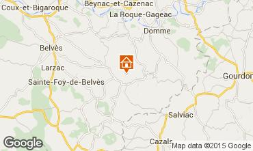 Map Sarlat Self-catering property 13545