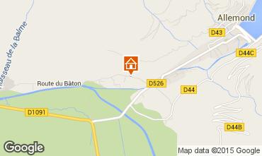 Map Alpe d'Huez Apartment 65901