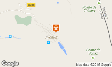 Map Avoriaz Apartment 41420
