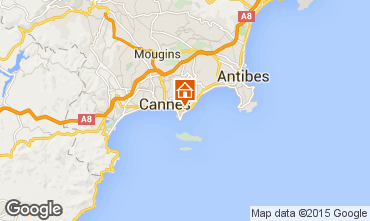 Map Cannes Apartment 39310