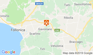 Map Gavorrano Self-catering property 80622