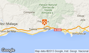 Map Nerja Self-catering property 65400