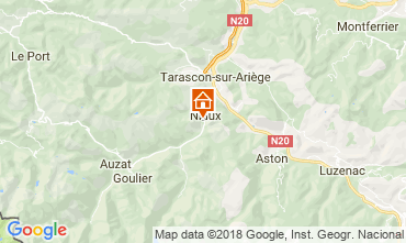Map Ussat les Bains Self-catering property 95886