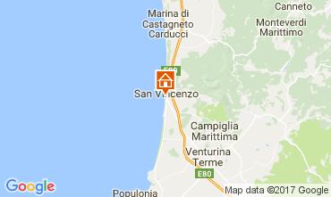 Map San Vincenzo Studio apartment 109991