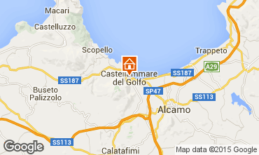 Map Castellammare del Golfo Apartment 49143