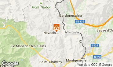 Map Névache Studio apartment 59659