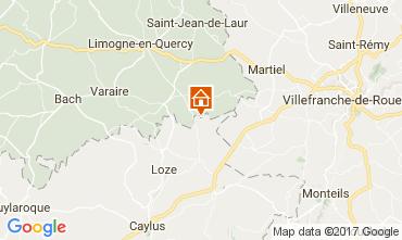 Map Saint-Cirq-Lapopie Self-catering property 51135