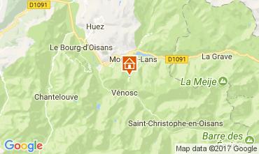 Map Les 2 Alpes Studio apartment 112485