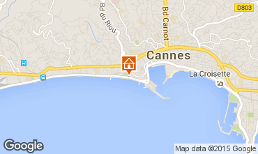 Map Cannes Apartment 5542