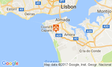 Map Lisbon Studio apartment 91278