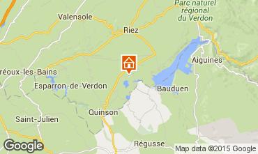 Map Sainte-Croix-du-Verdon Apartment 83052