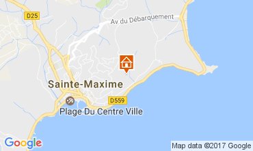 Map Sainte Maxime Villa 108708