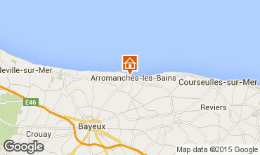 Map Arromanches Self-catering property 81097
