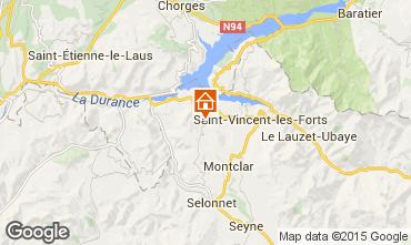 Map Barcelonnette Mobile home 93371