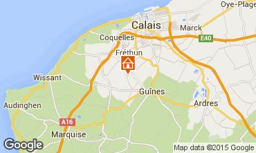 Map Sangatte/Blériot-Plage Self-catering property 83199