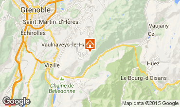 Map Chamrousse Apartment 58470