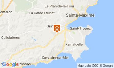 Map Saint Tropez Apartment 93434