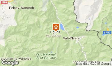 Map Tignes Studio apartment 39681