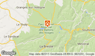 Map Gérardmer Self-catering property 97695