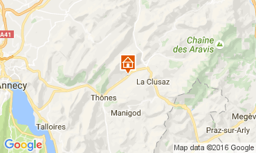 Map La Clusaz Self-catering property 106482