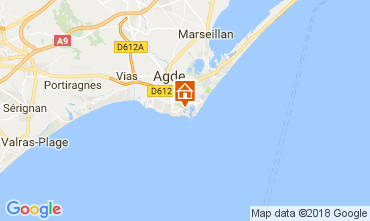 Map Cap d'Agde Apartment 99840