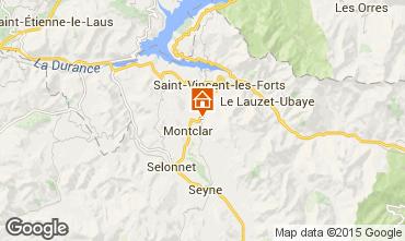 Map Saint Jean Montclar Studio apartment 59268